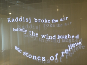 video installation of the multimedia poetry project